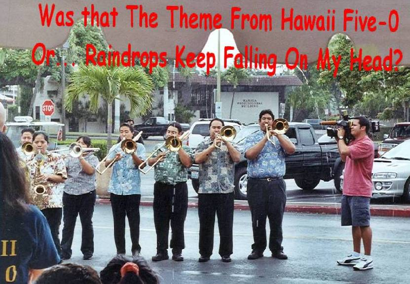 The University of Hawaii pep band